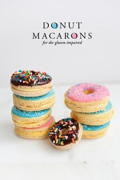 Donut Macarons Recipe (Gluten-Free) by The House That Lars Built