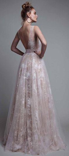 f892a6f85e Champagne Formal Prom Evening Dresses 2017 Berta Bridal Embroidery Plunging  V Neckline Backless Floor Length Evening Dresses Summer Evening Dresses Uk  ...