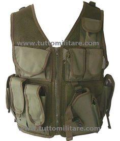 Tactical Vest Olive Drab in Cordura