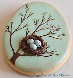 Birds nest sugar cookies