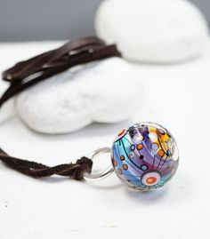 Hand Blown Glass Jewelry | Melanie Moertel | One Of A Kind | Glass Art | Lampwork | Marble Bead | Available On Etsy