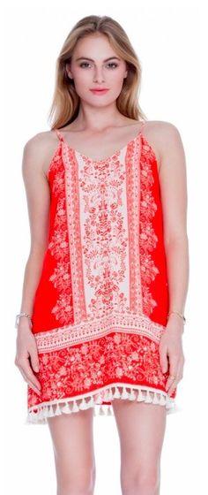 BohoPink - Lush Do It Well Red Boho Shift Dress, $42.00 (http://www.bohopink.com/lush-do-it-well-red-boho-shift-dress/)