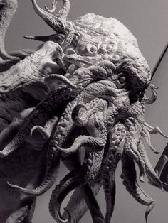 ---------------------- Old man Cthulhu Lovecraft Cthulhu, Traditional Sculptures, Lovecraftian Horror, Creature Design, Creature 3d, Alien Creatures, Creature Concept, Les Oeuvres, Sculpting