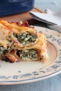 Cheesy Spinach Lasagna Alfredo Roll Ups Recipe