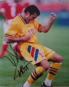 Name:Gheoghe Hagi, Country:Romania, Club:Galatasaray - Turkey Pg Tips, International Soccer, Soccer Stars, Soccer Players, Real Madrid, Romania, Athletes, Postcards, Sports
