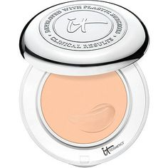 It Cosmetics Confidence in a Compact with SPF 50+ Medium (if you have a light-to-medium skin tone - most popular shade!)