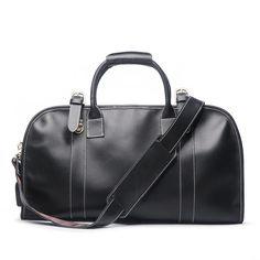 624b951c31 Leather Mens Weekender Bags Vintage Travel Bag Duffle Bag