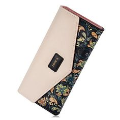 Augur Womens Long Clutch Leather Purse Handy Bag Card Holder Wallet Handbag handbag Black * See this great product.