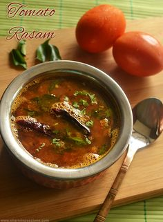 Kerala style Tomato Rasam Recipe