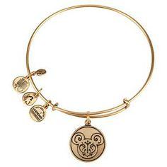 Disney Alex and Ani Charm Bracelet - Mickey Filigree Icon - Gold