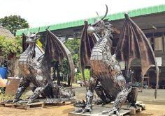 "thefabulousweirdtrotters: ""Scrap Metal Dragon """
