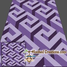 Optical Maze SC Throw Sized Blanket Crochet Pattern includes a full size color with symbols graph, written instructions, and color blocks. Crochet Throw Pattern, Tunisian Crochet Patterns, Crochet Wool, Baby Blanket Crochet, Crochet Afghans, Crochet Blankets, Free Crochet, Quilting Projects, Crochet Projects