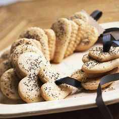 Honey and Poppy Seed Hearts Honey gives these cinnamon-spiced cookies great flavor and a slightly soft texture.