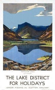 English Railway Travel Poster Print, The Lake District