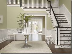 "Benjamin Moore Color...""gray mirage."" A greenish, gray color which is a stunning neutral."