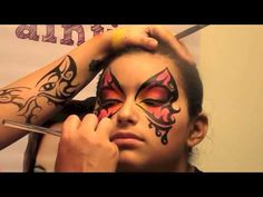Butterfly Face Painting Design - YouTube