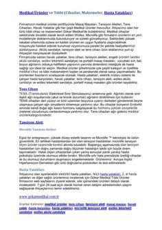 FlipSnack | Medikal Ürünler ve Hasta Yatakları by Ümit Uz