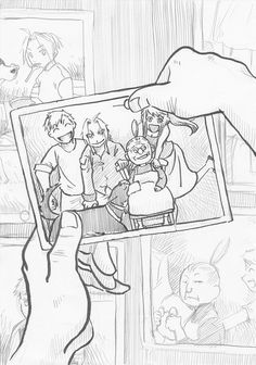 Edward, Winry, Alphonse And Pinako ~Fullmetal Alchemist fullmetal alchemist: brotherhood