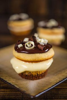 Boston Cream Cupcakes by Southern Boy Dishes