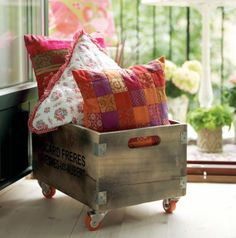 I love the idea of using this old crate in a modern way.