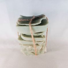 Cucumber Melon soap ends wrapped up and ready to sell.  #wixwaxcandles #soapends. #soapsamples. #allnatural. #cucumbers. #cucumbermelon