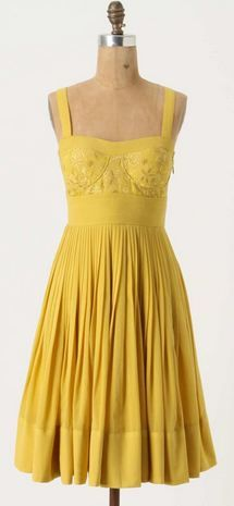Super cute yellow sun dress! i hope by next summer i will be able to buy and wear a dress just like this ...and Rock IT