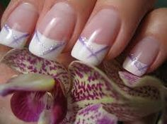 Image result for french manicure purple