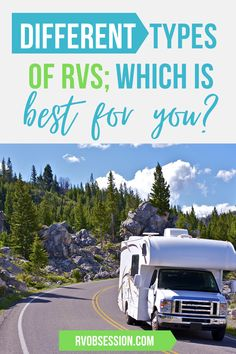 If you're considering buying a new RV but don't really know what type of RV wouul be the best for you and your family; we've described the different types of RVs and the pros and cons of each. Hopefully this will help you to narrow down which type of RV (whether it's a motorhome, fifth wheel, travel trailer or campervan) you should purchase. Types of RVs | RV types | Different types of RVs | Different RVs Popup Camper, Truck Camper, Camper Life, Rv Campers, Buying An Rv, Rv Hacks, Different Types, Rat Race, Class B