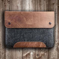iPad Pro 10.5 Case Tasche Leder Filz Ledertasche Lederhülle
