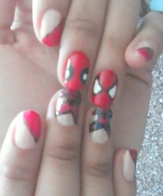 Mis creaciones :P 17-09-2015 Deadpool & Spiderman cute