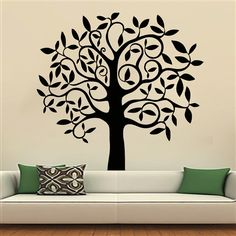 Tree Wall Decals Art Decal Stickers Decal Nursery Bedroom Home Decor Interior Design Murals MN927