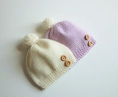 Hand knitted baby hat / newborn knitted by PetitMoutonFrancais