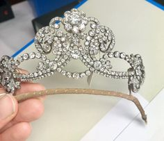 Maria Anna's diamond tiara, sold by Sotheby's on 14 November 2018 for Royal Jewelry, Luxury Jewelry, Fine Jewelry, Antique Jewelry, Vintage Jewelry, Diamond Tiara, Circlet, Tiaras And Crowns, Crown Jewels