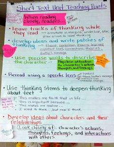 the inspired classroom close reading anchor charts for ela  two reflective teachers close reading and literary essay unit