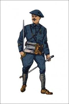 1914-1918 : Chasseur Alpin - Lieutenant, pin by Paolo Marzioli