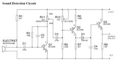 Sound detection circuit diagram