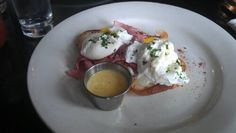 Needless to say, I'm on a Benedict rampage. My first venture into Kansas City, Mo. led me to The Farmhouse where breakfast is king. Eggs on ham on challah? Eat Your Heart Out, Challah, Kansas City, Ham, Eggs, Farmhouse, Breakfast, Food, Morning Coffee
