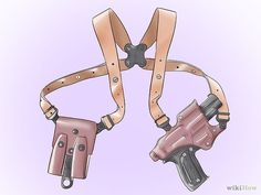 Make a Shoulder Holster Step 4.jpg - Suspenders! Genius!