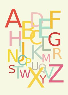 FREE printable alphabet wall art | #ABCposter