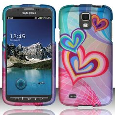 Zizo Design Hard Cover Case for Galaxy S4 Active - Heartception New Phones 69a850b7bf7