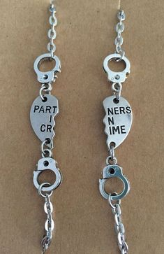 Partners in Crime Handcuff Bracelet Set by BillyBlueBirdnMe