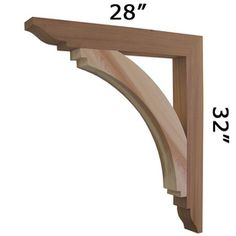 We offer wooden cedar architectural brackets, wooden cedar corbels and gingerbreads for front porch posts, gable, sofits and front stoop. We have largest selection of Cedar Brackets and Cedar Brace made in USA. Call Pro Wood Market today 1-800-915-6285