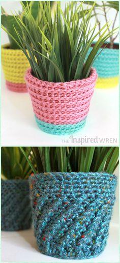 Crochet Summer Sherbet Planter