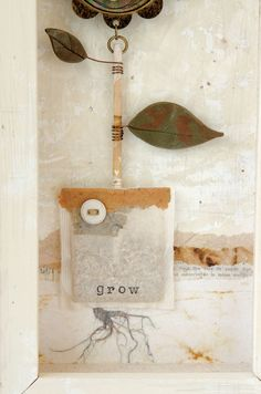 Cheryl Dossey's Grow was inspired by a tea bag that looked like a little pouch of soil — a dwelling to plant a seed and nurture its growth. | Somerset Apprentice