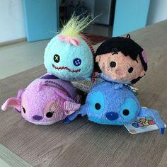 4X Set Tsum Tsum LILO & STITCH&Pink Stitch Angel& Scrump Plush Tiny Toy New