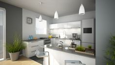 déco salon cuisine moderne | Appartement | Pinterest | Cuisine and ...