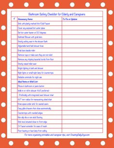 Bathroom Safety Solutions for Seniors and Caregivers | Free Printable Checklist | Creating Daily Joys