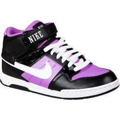 b557688ab425 Amazon.com  Nike Girl s Mogan Mid 2 Lace Up Skate Sneaker Blk  purp