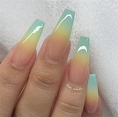 Discover new and inspirational nail art for your short nail designs. Summer Acrylic Nails, Best Acrylic Nails, Summer Nails, Acrylic Nail Powder, Ombre Nail Designs, Acrylic Nail Designs, Nail Art Designs, Ombre Nail Art, Stiletto Nail Designs