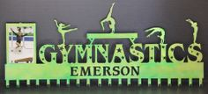 Gymnastics Medal Display: Personalized Gymnastics Medals Holder: Gymnastics Medals Hanger.....The # 1 Creator of Metal Home Wall Décor, Custom Wall Plaques, Personalized Medal Holders and Personalized Sports Trophy Shelves